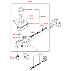 Цилиндр тормозной главный (Hyundai-KIA) 5851038004