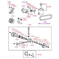 Паразитный / ведущий ролик, поликлиновой ремень (Hyundai-KIA) 5721238000