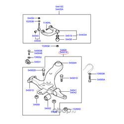 Рычаг передний / нижний / левый (Hyundai-KIA) 5450138620
