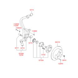 Шпилька м6 (Hyundai-KIA) 5271738000