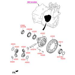 Упорное кольцо подшипника вала дифференциала (Hyundai-KIA) 4583539516