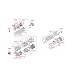 Комплект дисков акпп (9шт) (Hyundai-KIA) 4542139700