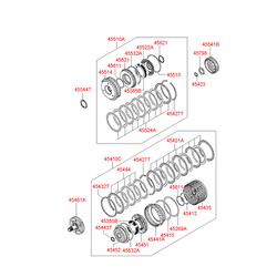 Комплект дисков акпп (9шт) (Hyundai-KIA) 4542139501