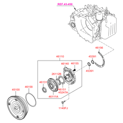 Гидротрансформатор акпп (Hyundai-KIA) 4510034250