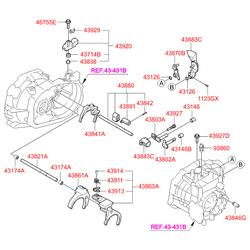 Подшипник роликовый игольчатый (Hyundai-KIA) 4314639000