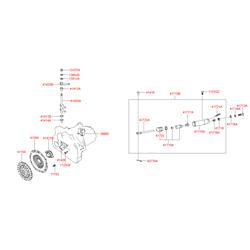 Цилиндр сцепления рабочий (Hyundai-KIA) 4171039020