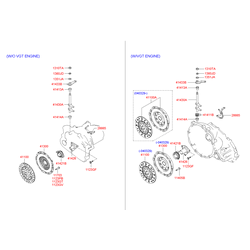 Корзина сцепления (Hyundai-KIA) 4130039115