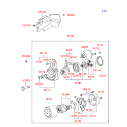 Втягивающе-пусковое устройство стартера (Hyundai-KIA) 3612037301