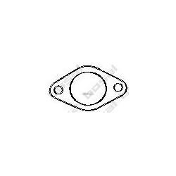 Уплотнительное кольцо, труба выхлопного газа (Fortus) 256390