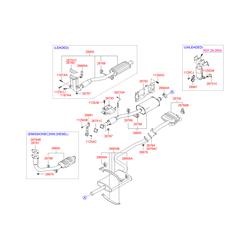 Глушителя подвеска (Hyundai-KIA) 2876529000