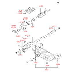 Прокладка выхлопной трубы (Hyundai-KIA) 2875038400