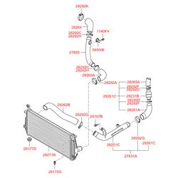 Шланг системы охлаждения (Hyundai-KIA) 2826127401