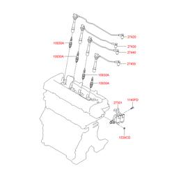 Провода свечные высоковольтные (Hyundai-KIA) 2744023700
