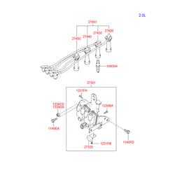 Конденсатор катушки зажигания (Hyundai-KIA) 2732523510