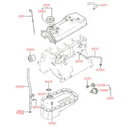 Клапан вентиляции картера (Hyundai-KIA) 2674032800