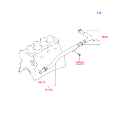 Патрубок системы охлаждения (Hyundai-KIA) 2548023000