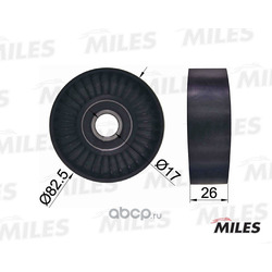 Ролик ремня грм (Miles) AG02054