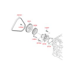 Прокладка помпы (Hyundai-KIA) 2512423000
