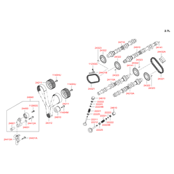Распредвал выпуск (Hyundai-KIA) 2471037211