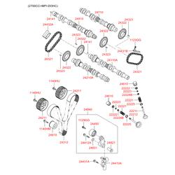 Распредвал двигателя (Hyundai-KIA) 2410038101