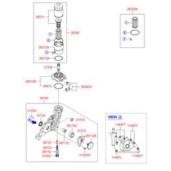 Масляный насос двигателя (Hyundai-KIA) 2131027080