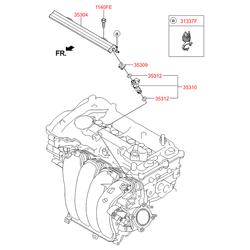 Форсунка двигателя (бензин) (Hyundai-KIA) 353102E000