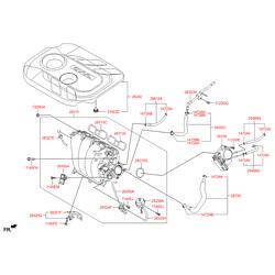 Корпус дроссельной заслонки (Hyundai-KIA) 351002E000