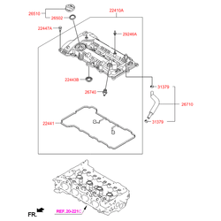 Клапанная крышка (Hyundai-KIA) 224102E000