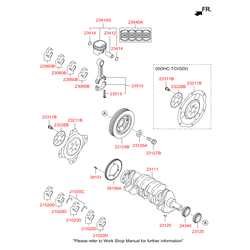Вкладыши коренные (Hyundai-KIA) 210202G110