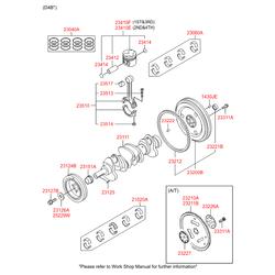 Комплект подшипников скольжения коленвала (5шт) (Hyundai-KIA) 2102038120