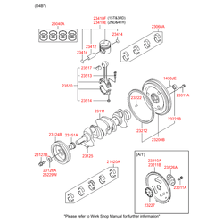 Комплект вкладышей (Hyundai-KIA) 2102038100
