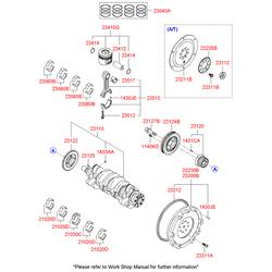 Подшипник скольжения коленвала (Hyundai-KIA) 2102027906