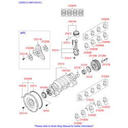 Комплект поршневых колец (Hyundai-KIA) 2304027922