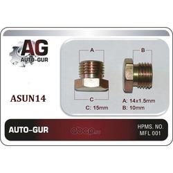 Пробка,масляного поддона 14х1,5 (Auto-GUR) ASUN14