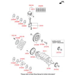 Подшипник скольжения шатуна (Hyundai-KIA) 230602G411