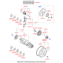 Вкладыши шатунные комплект (Hyundai-KIA) 2306027921
