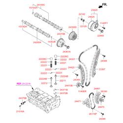Шестерня распредвала (Hyundai-KIA) 243702G750