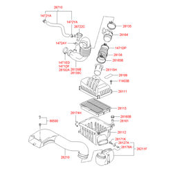 Обратный клапан вентиляции картера двигателя (Hyundai-KIA) 2672227400