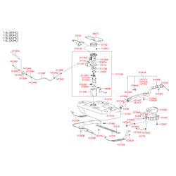 Крышка заливной горловины топливного бака (Hyundai-KIA) 3101025400
