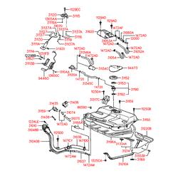 Крышка топливного бака (Hyundai-KIA) 3101028500