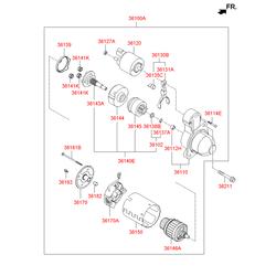 Муфта сцепления (Hyundai-KIA) 361402E500