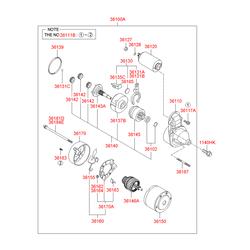 Бендикс стартера (Hyundai-KIA) 3613638040
