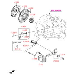 Втулка кронштейна масляной трубки (Hyundai-KIA) 4146634000