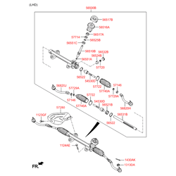 Втулка реечного рулевого механизма (Hyundai-KIA) 565423X000