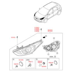 Кожух фары (Hyundai-KIA) 921403M000
