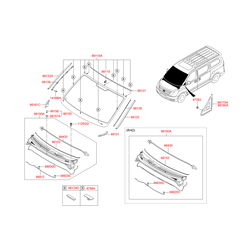 Фиксатор панели воздухозаборника (Hyundai-KIA) 861554H000