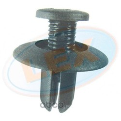 Фиксатор бампера черный диаметр (LEX) WW2576