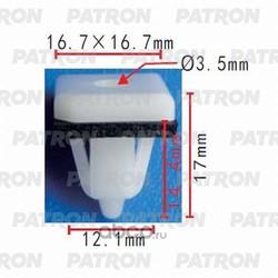 Клипса пластмассовая (PATRON) P370380