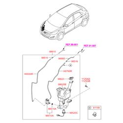 Фильтрующий элемент бачка жидкости стеклоомывателя (Hyundai-KIA) 985153E000