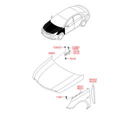 Капот (Hyundai-KIA) 664003S000